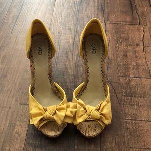Cato Yellow Heels
